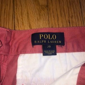 Polo boys Nantucket red shorts